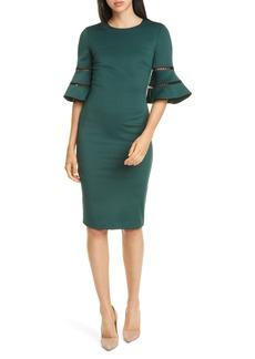 Ted Baker London Filnio Bell Sleeve Body-Con Dress