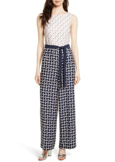 Ted Baker London Finir Colorblock Tie Waist Jumpsuit