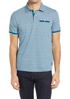 Ted Baker London Firepit Slim Fit Stripe Cotton Polo Shirt