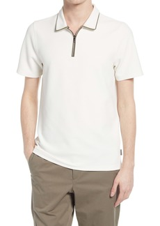 Ted Baker London Flamin Quarter Zip Short Sleeve Polo