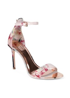 Ted Baker London Floral Ankle-Strap Sandals
