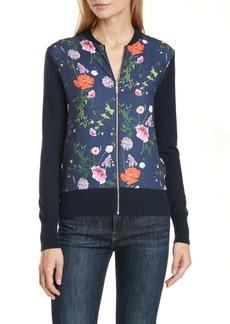 Ted Baker London Floral Bomber Jacket