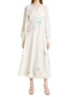 Ted Baker London Floral Long Sleeve Maxi Dress