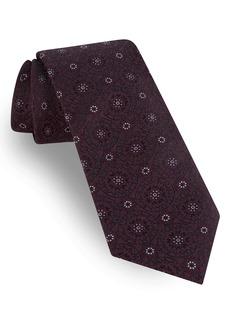 Ted Baker London Floral Medallion Silk Blend Tie