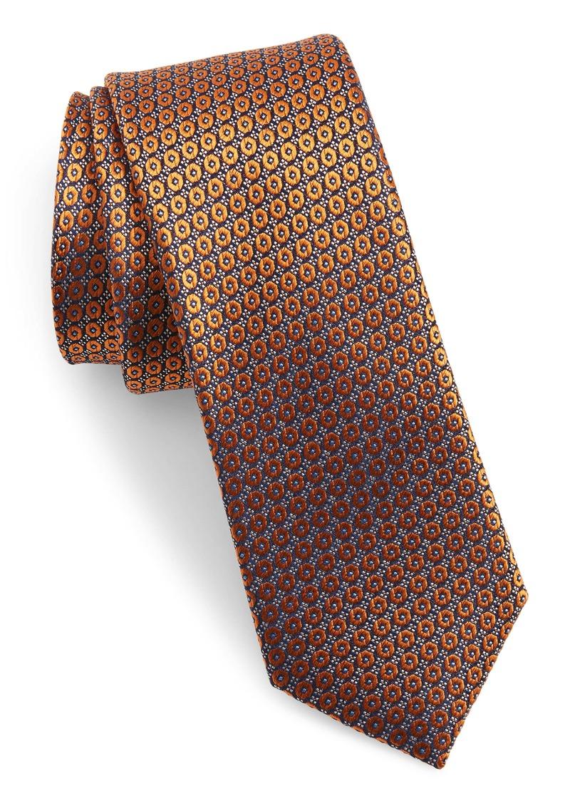 Ted Baker London Floral Medallion Skinny Silk Tie