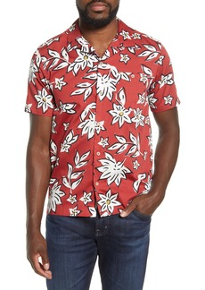 Ted Baker London Floral Short Sleeve Button-Up Camp Shirt
