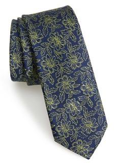 Ted Baker London Floral Silk Skinny Tie