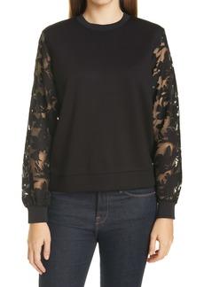 Ted Baker London Floral Sleeve Sweatshirt