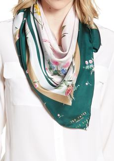 Ted Baker London Flourish Square Silk Scarf