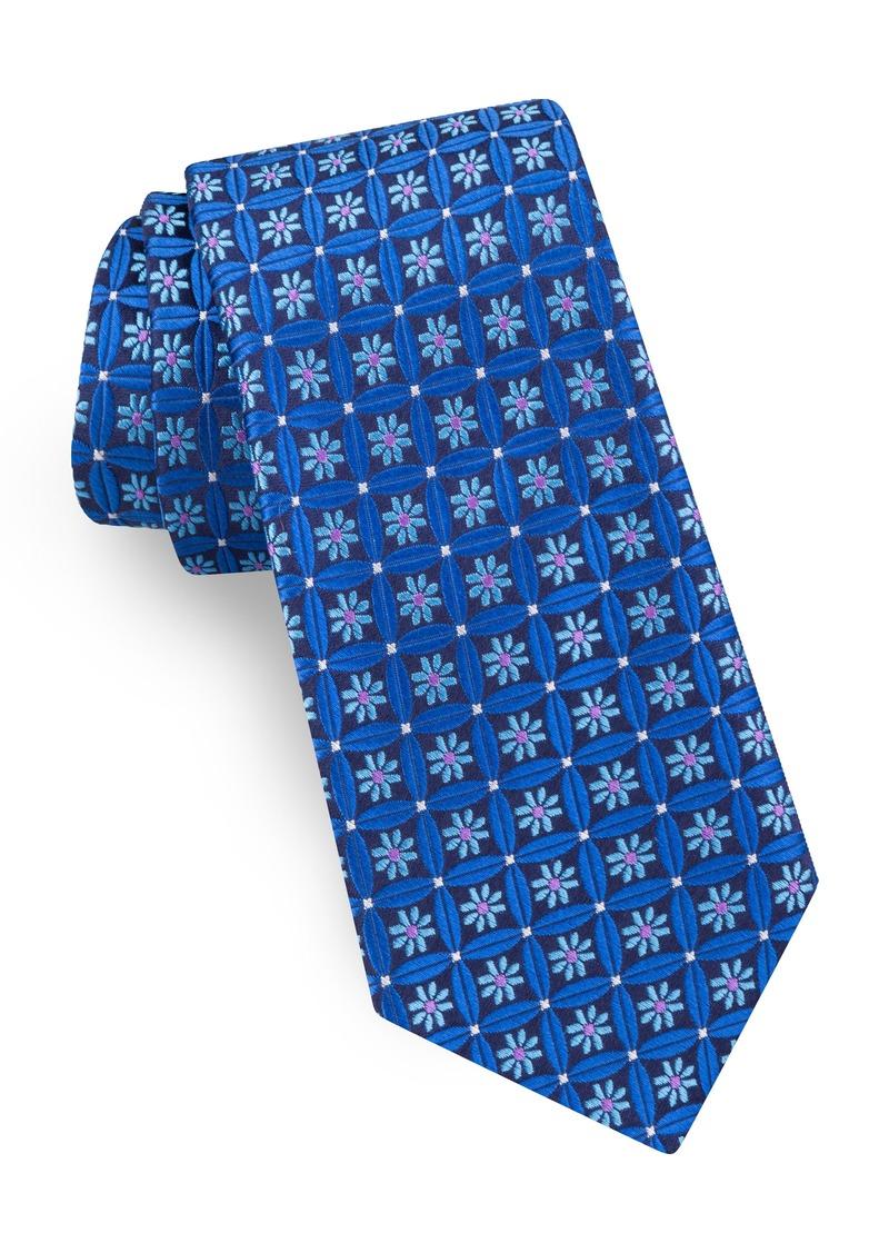 Ted Baker London Flower Lattice Silk Tie