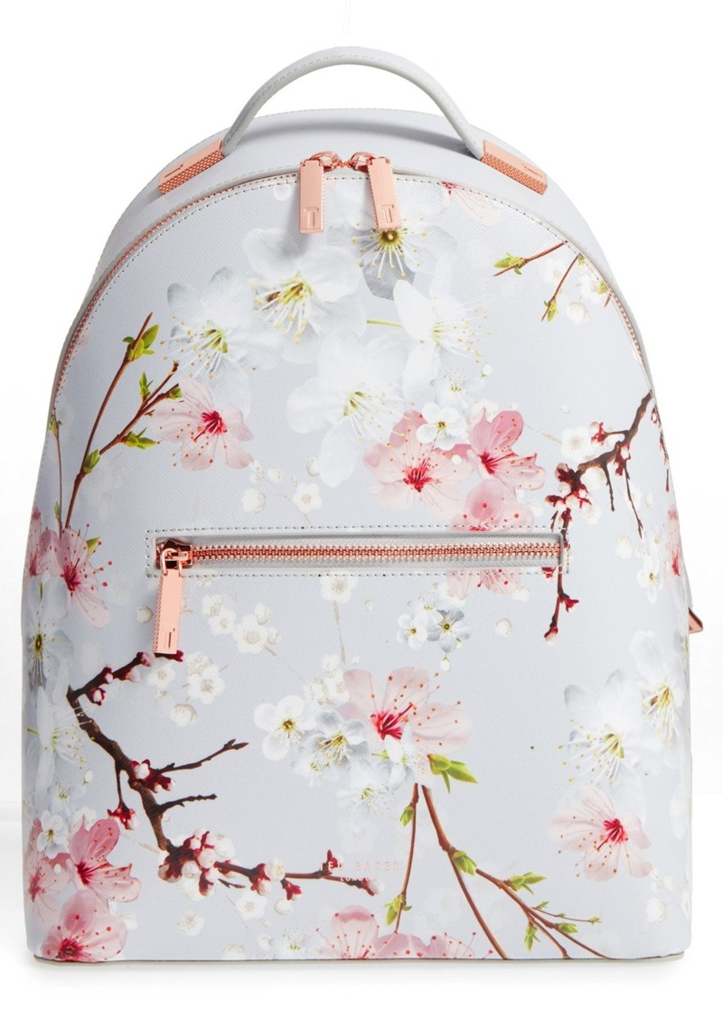 1131d72f3a0b Ted Baker Ted Baker London Flower Print Leather Backpack