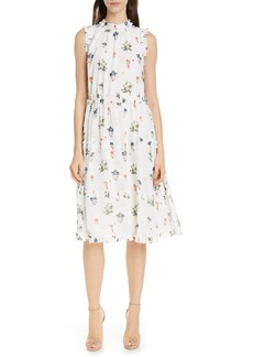 Ted Baker London Flutta Oracle Tiered Floral Midi Dress