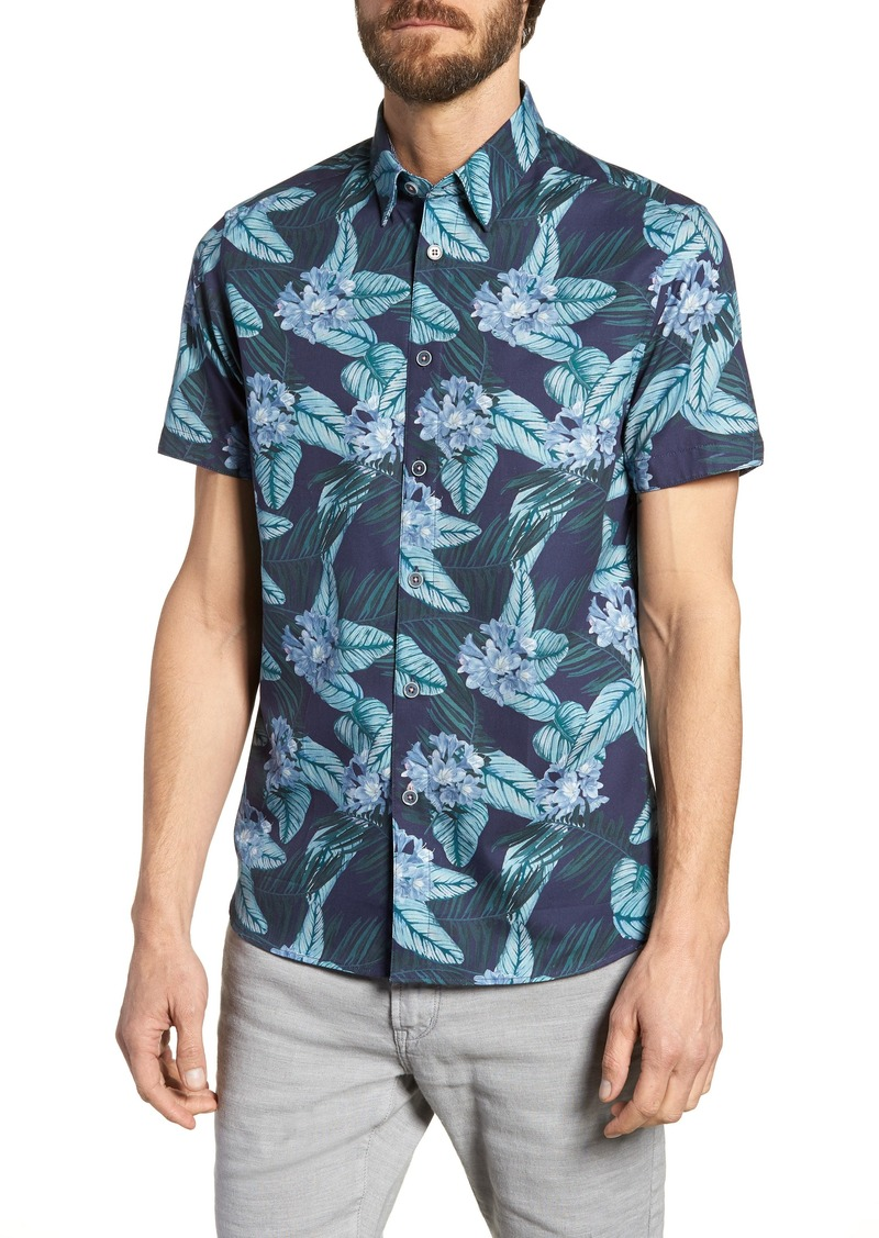 f7a649aa5e7be0 Ted Baker Ted Baker London Folinor Slim Fit Floral Cotton Shirt ...