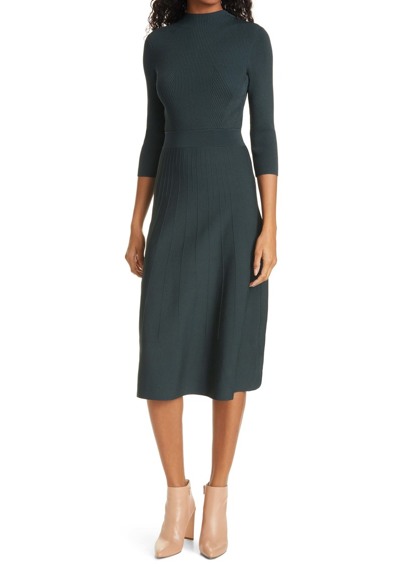 Ted Baker London Franeyy Ribbed Long Sleeve Sweater Dress