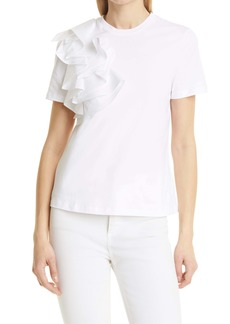 Ted Baker London Frill Detail Relaxed Cotton Top