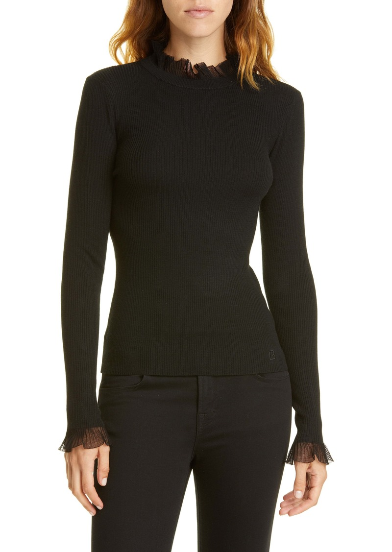 Ted Baker London Frill Trim Sweater
