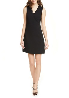 Ted Baker London Furnaed Scallop Cocktail Dress