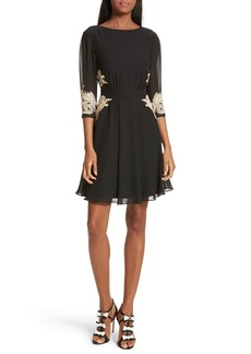 Ted Baker London Gaenor Embroidered Fit & Flare Dress