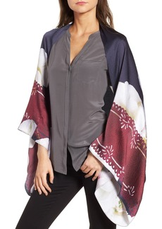 Ted Baker London Gardenia Silk Cape Scarf