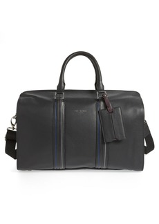 Ted Baker London Geeves Stripe Leather Duffel Bag