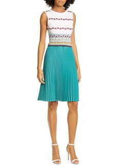 Ted Baker London Zannan Geo Pleated Dress