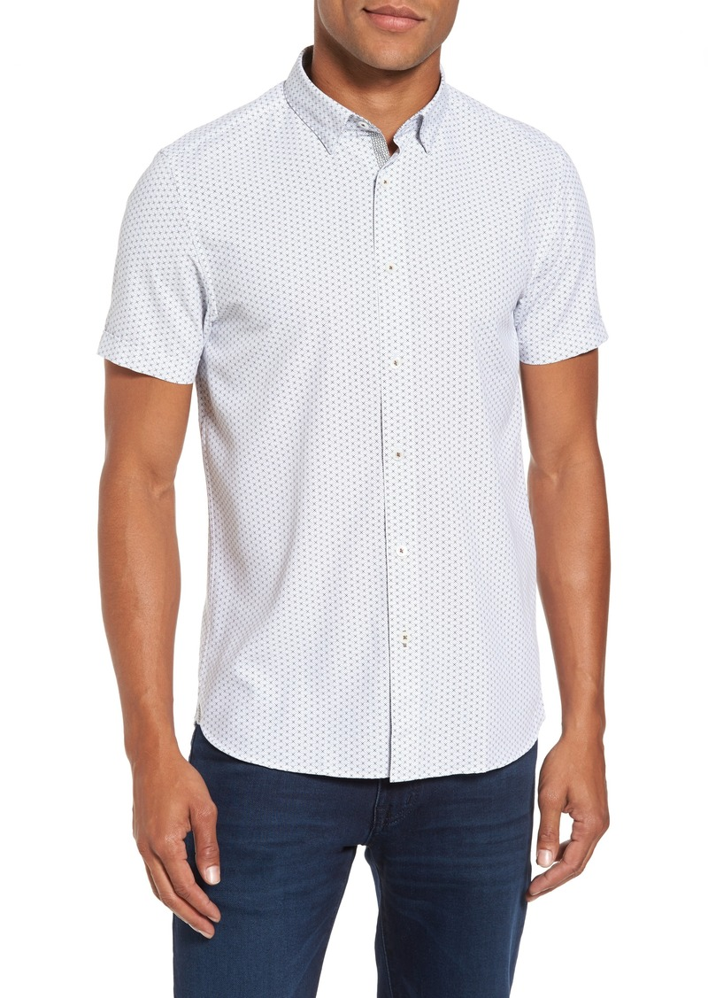 b80b85f9892c Ted Baker Ted Baker London Geo Polynosic Slim Fit Woven Shirt Now  69.49