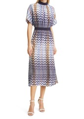 Ted Baker London Geo Print Short Sleeve Midi Dress