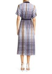 Ted Baker London Geo Print Short Sleeve Midi Dress