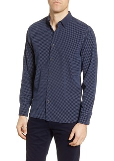 Ted Baker London Geo Print Slim Fit Button-Up Shirt