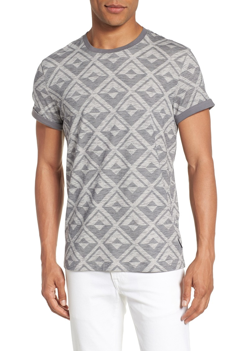 be6f4d50be33a6 Ted Baker Ted Baker London Geometric Crewneck T-Shirt Now  47.49