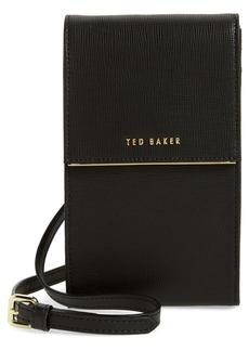 Ted Baker London Geriee Saffiano Leather Phone Crossbody Bag
