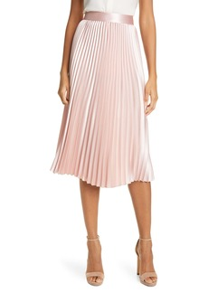 Ted Baker London Glaycie Colorbock Detail Pleated Skirt