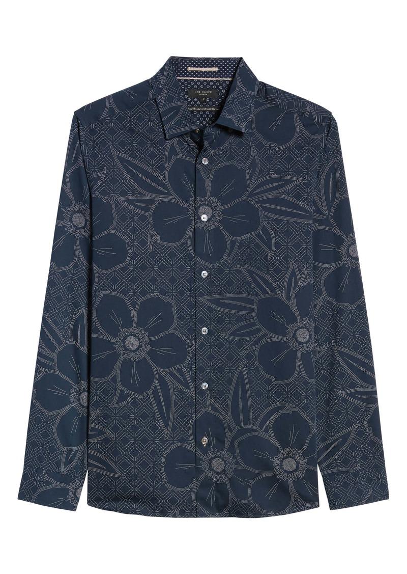 Ted Baker London Gogirl Slim Fit Floral Button-Up Shirt