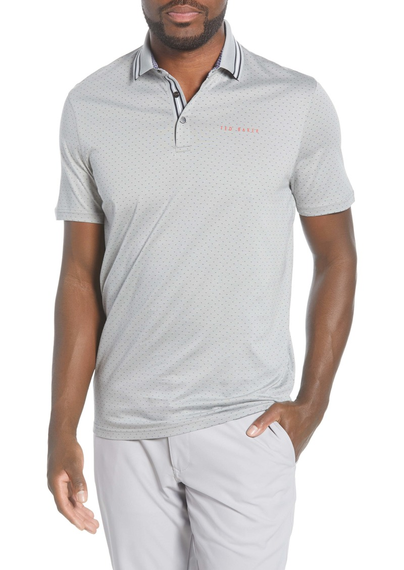 Ted Baker London Golf Textured Print Jersey Polo