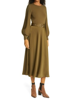 Ted Baker London Gwenii Belted Long Sleeve Midi Dress