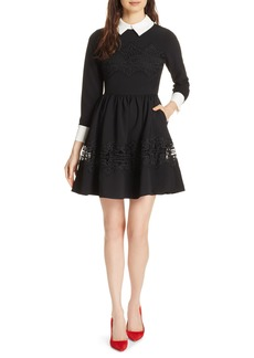 Ted Baker London Haeden Collared Lace Panel Dress