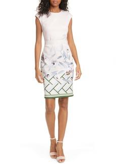Ted Baker London Hailey Everglade Body-Con Dress