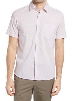 Ted Baker London Hamok Dot Short Sleeve Button-Up Shirt
