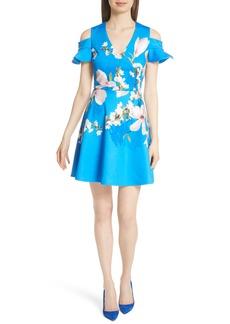 Ted Baker London Harmony Cold Shoulder Dress
