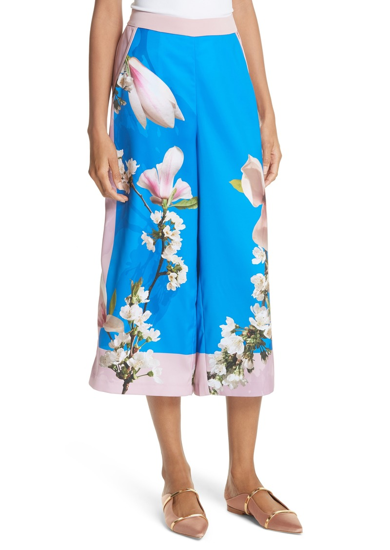 fd66109a2 Ted Baker Ted Baker London Harmony Print Wide Leg Culotte Pants ...
