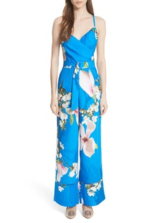 Ted Baker London Harmony Wrap Front Floral Jumpsuit