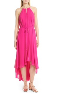Ted Baker London Harpah Pleat High/Low Midi Dress