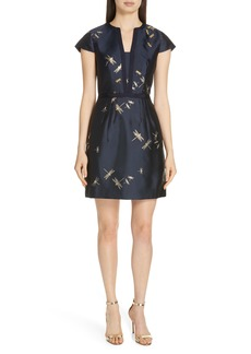 Ted Baker London Hartty Dragonfly Jacquard Dress