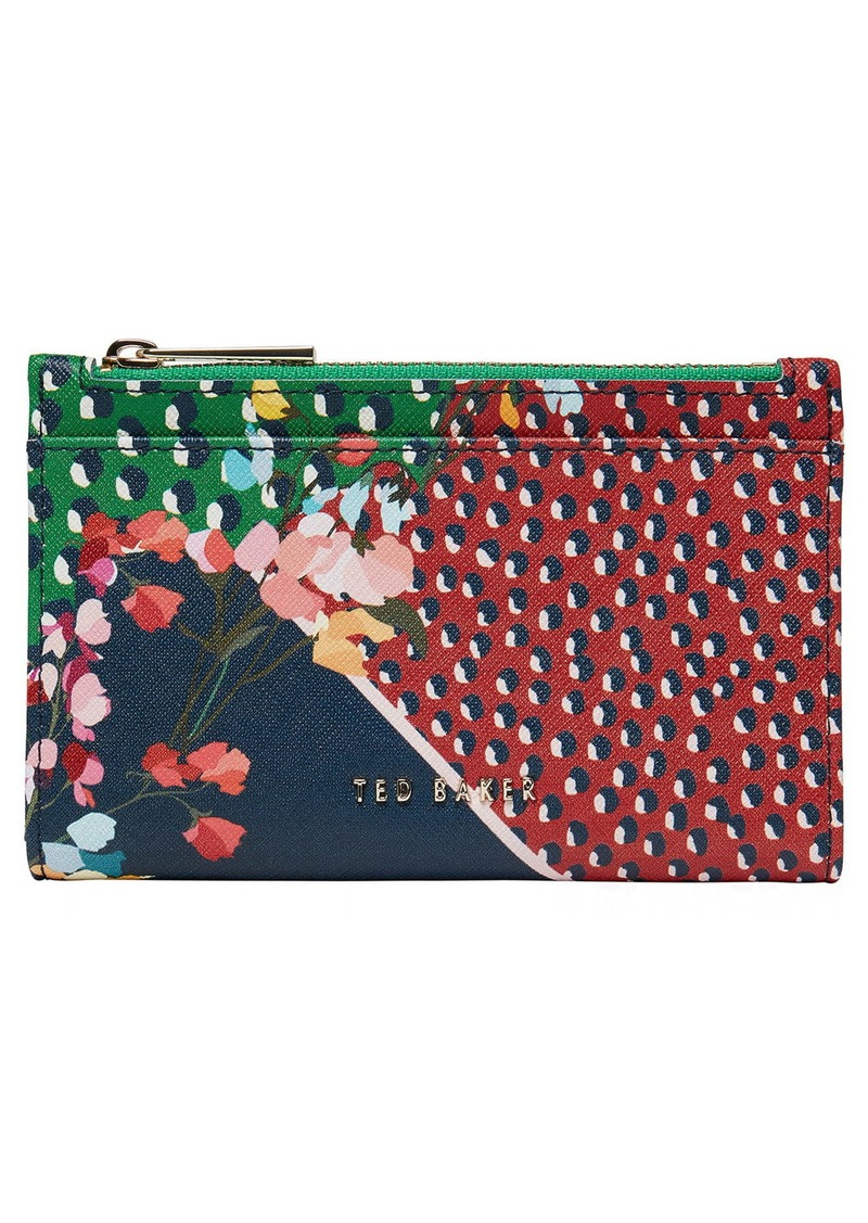Ted Baker London Hassiee Mixed Print Leather Wallet