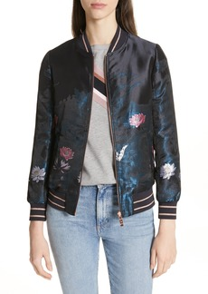 Ted Baker London Hayzl Wonderland Jacquard Bomber Jacket