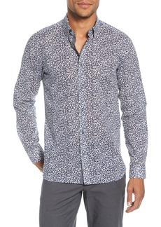 Ted Baker London Hazeltr Slim Fit Leaf Button-Down Shirt