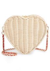 Ted Baker London Heart Wicker Crossbody Bag