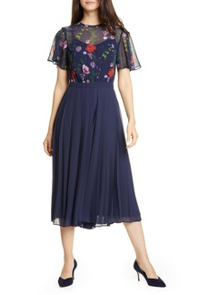 Ted Baker London Hedgerow Pleated Culotte Jumpsuit