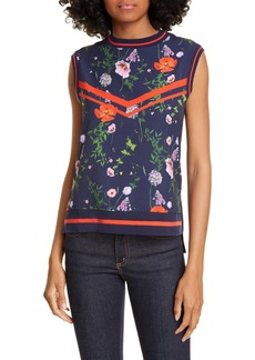 Ted Baker London Hedgerow Ribbed Trim Top