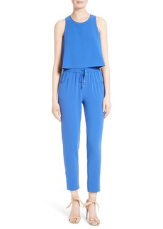Ted Baker London Heidey Popover Bodice Textured Jumpsuit